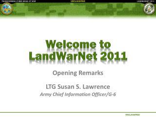 Welcome to  LandWarNet  2011
