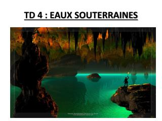 TD 4 : EAUX SOUTERRAINES
