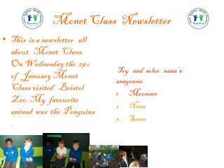 Monet  Class  Newsletter