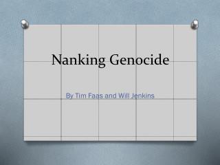 Nanking Genocide