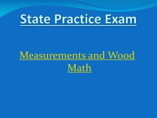 Measurements  and Wood Math