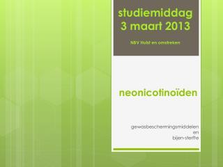 neonicotinoïden