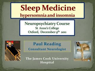 Paul Reading Consultant Neurologist The James Cook University  Hospital