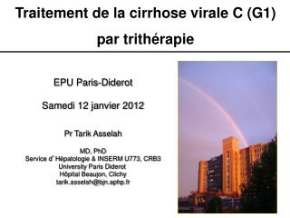Traitement de la cirrhose virale C (G1) p ar trithérapie