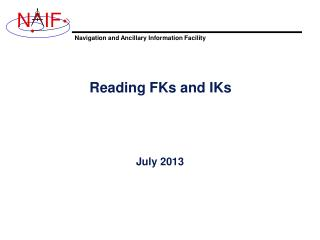 Reading FKs and IKs