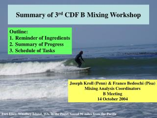 Summary of 3rd CDF B Mixing Workshop