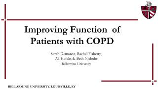 Improving Function  of Patients with COPD
