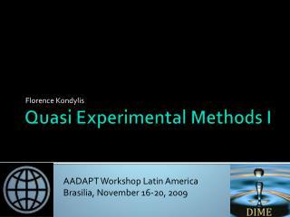 Quasi Experimental Methods I