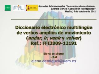 Investigadores de la UAM : Elena de Miguel (Catedrática de Universidad)