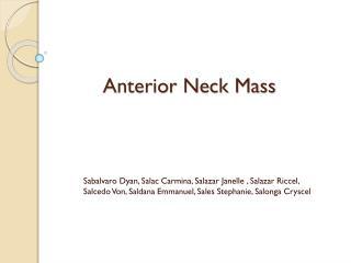 Anterior Neck Mass