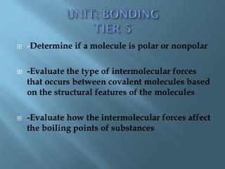 UNIT: BONDING TIER 5