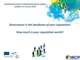 Governance is the backbone of your reputation! How much is your reputation worth?