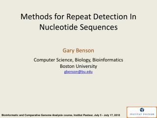 Methods for Repeat Detection In Nucleotide Sequences