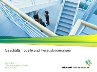 Geschäftsmodelle  und  Herausforderungen