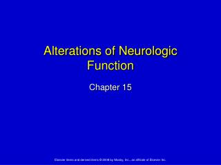 Alterations of Neurologic Function