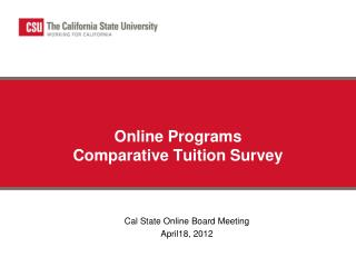 Online Programs  Comparative Tuition Survey