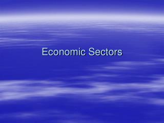 Economic Sectors