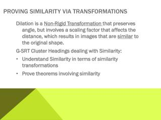 Proving Similarity via Transformations