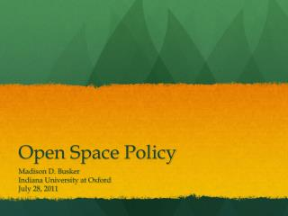 Open Space Policy