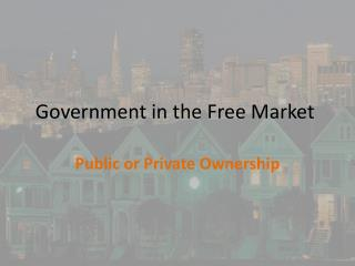 Government in the Free Market