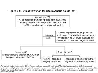 Figure  e-1 : Patient flowchart for arteriovenous fistula (AVF)