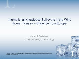 International Knowledge Spillovers in the Wind Power Industry – Evidence from Europe