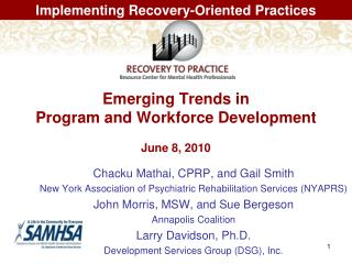 Emerging Trends in  Program and Workforce Development June 8, 2010
