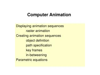 Computer Animation3----click me