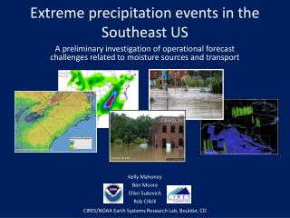 Extreme precipitation events in the Southeast  US