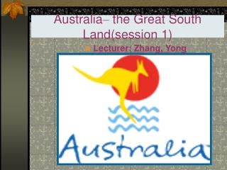 Australia  the Great South Landsession 1