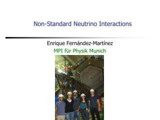 Non-Standard Neutrino Interactions