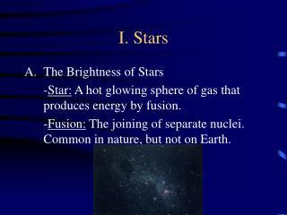 I. Stars