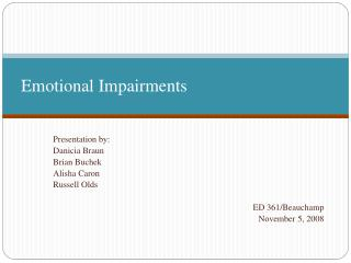 Emotional Impairments