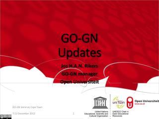 GO-GN Updates