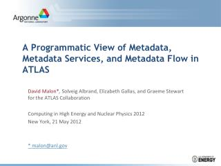 A Programmatic View of Metadata, Metadata Services, and Metadata Flow in ATLAS