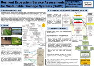 Resilient Ecosystem Service Assessments for Sustainable Drainage  Systems ( SuDS )