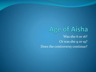 Age of Aisha