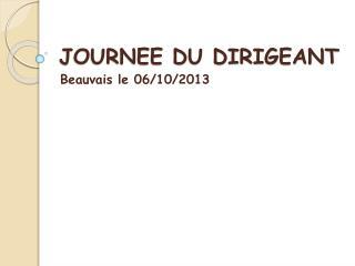 JOURNEE DU DIRIGEANT