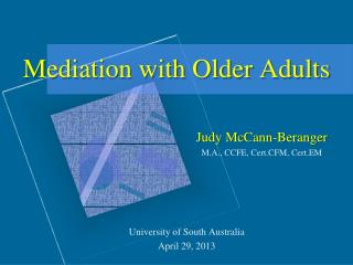 Mediation with Older Adults
