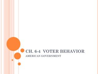 CH. 6-4  VOTER BEHAVIOR