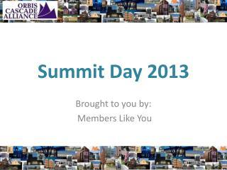 Summit Day 2013