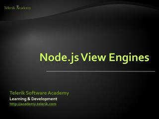 Node.js View Engines