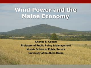 Wind Power and the Maine Economy