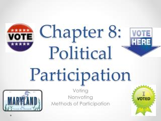 Chapter 8:  Political Participation