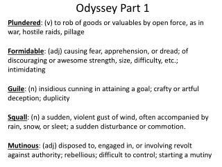 Odyssey Part 1