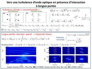 Vers une turbulence d'onde optique en présence d'interaction  à longue portée