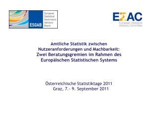 Österreichische Statistiktage 2011    Graz, 7.- 9. September 2011