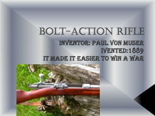 Bolt-action Rifle