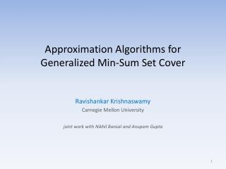 Approximation Algorithms for Generalized Min-Sum Set Cover