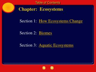 Chapter:  Ecosystems